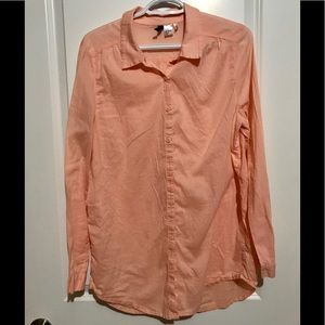 Women's H&M long sleeve blouse. Size 10. Pink.
